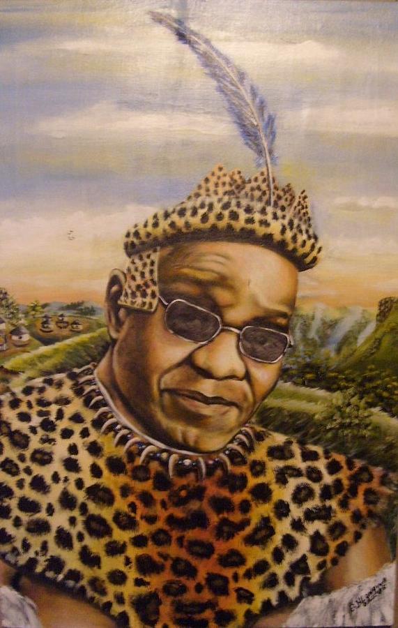 Thank You Painting - Msholozi by Bongumusa  Hlongwa