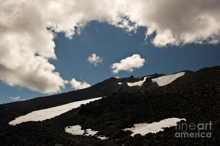 Mt. Bachelor Photograph - Mt. Bachelor Summit by Jackie Follett