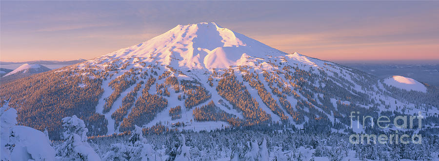 Bend Photograph - Mt. Bachelor Sunrise by Ross Wordhouse
