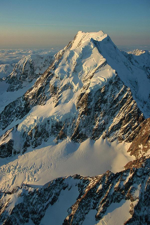 Mt Cook aka Aoraki Aerial View Photograph by Colin Monteath