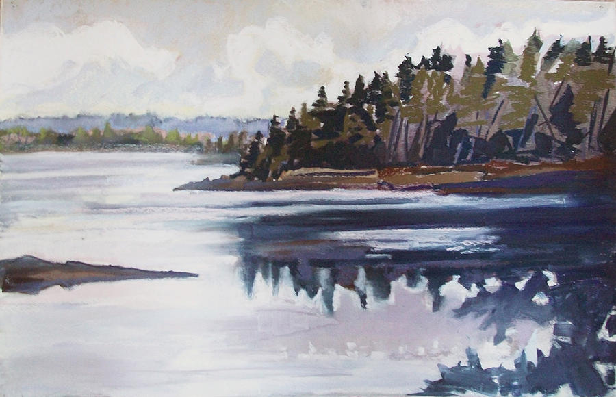 Downeast Maine Pastel - Mt. Desert Morning by Grace Keown