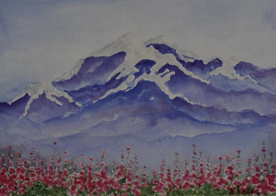 Alaska Painting - Mt. Drum by Kathleen Keller