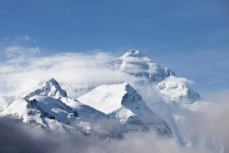 Chinese Culture Photograph - Mt Everest, From Mt Everest Base Camp by Sean Caffrey