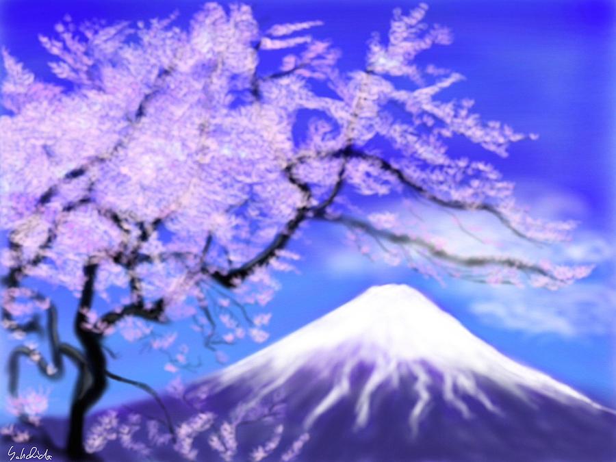 Ipad Painting - Mt Fuji 33 by Yoshiyuki Uchida