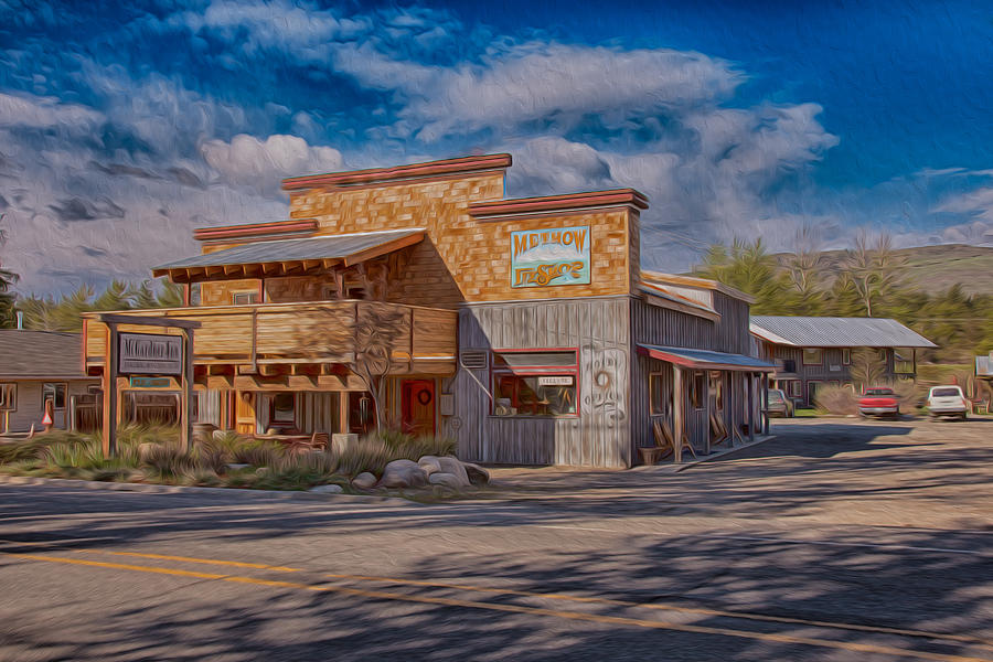 North Cascades Painting - Mt Gardner Inn And Fly Shop by Omaste Witkowski