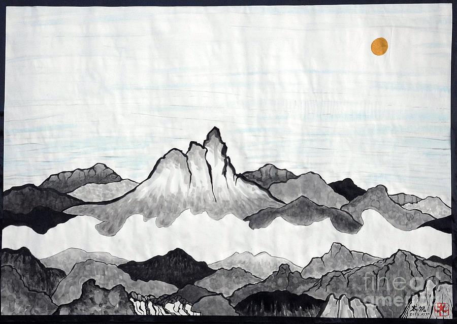 Hope Painting - Mt. Himang by Taikan Nishimoto
