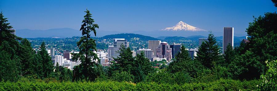 Color Image Photograph - Mt Hood Portland Oregon Usa by Panoramic Images