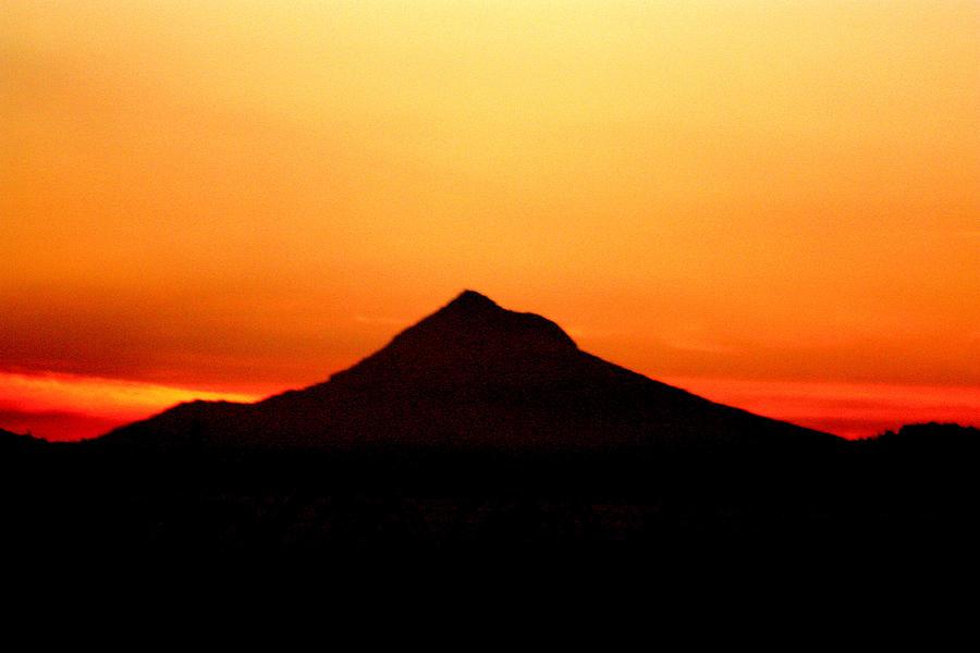Mt Hood Silhouette Photograph By Nick Gustafson