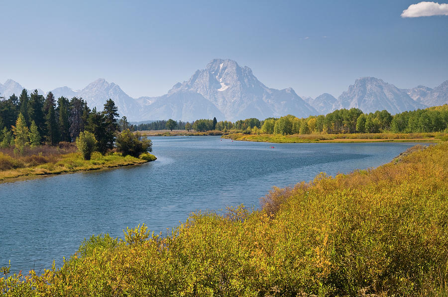 Scenic Photograph - Mt Moran And Snake River Seen From by Glenn Van Der Knijff