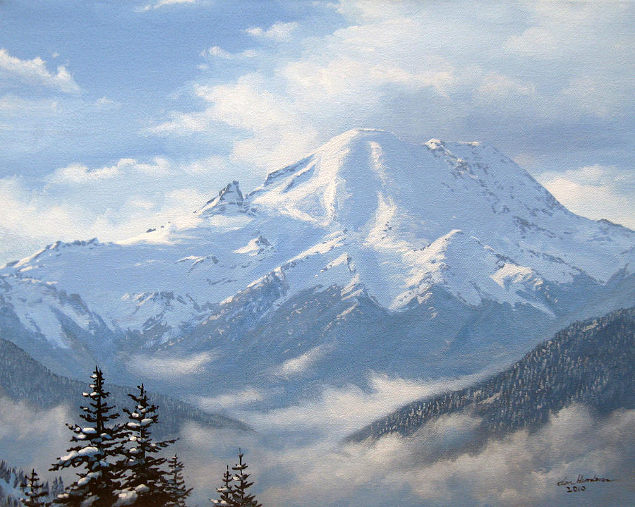 It's just a photo of Striking Mt Rainier Drawing