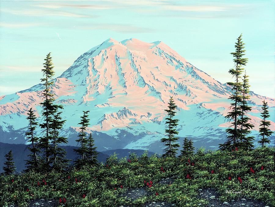 It's just a picture of Exhilarating Mt Rainier Drawing