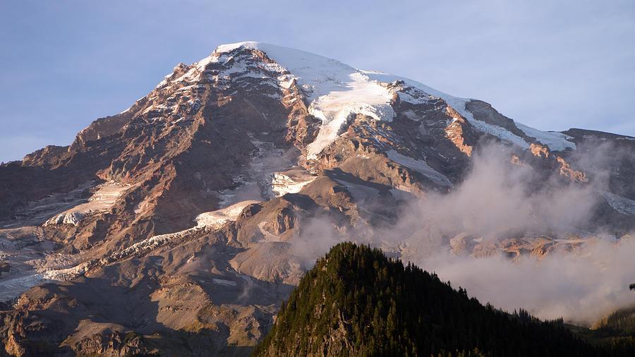Mt Rainier Painting - Mt Rainier Sunset by Scott Nelson