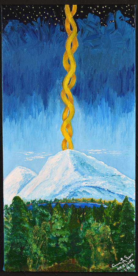 Sears Painting - Mt. Shasta by Cassie Sears