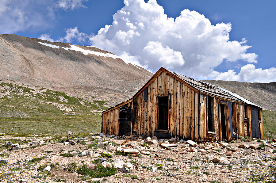 Shack Photograph - Mt. Sherman by Aaron Spong