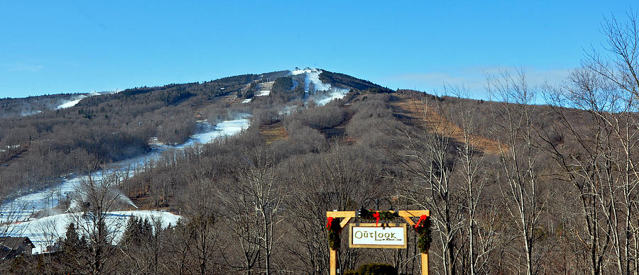 Ski Photograph - Mt Snow Vermont by Mary Anne Williams