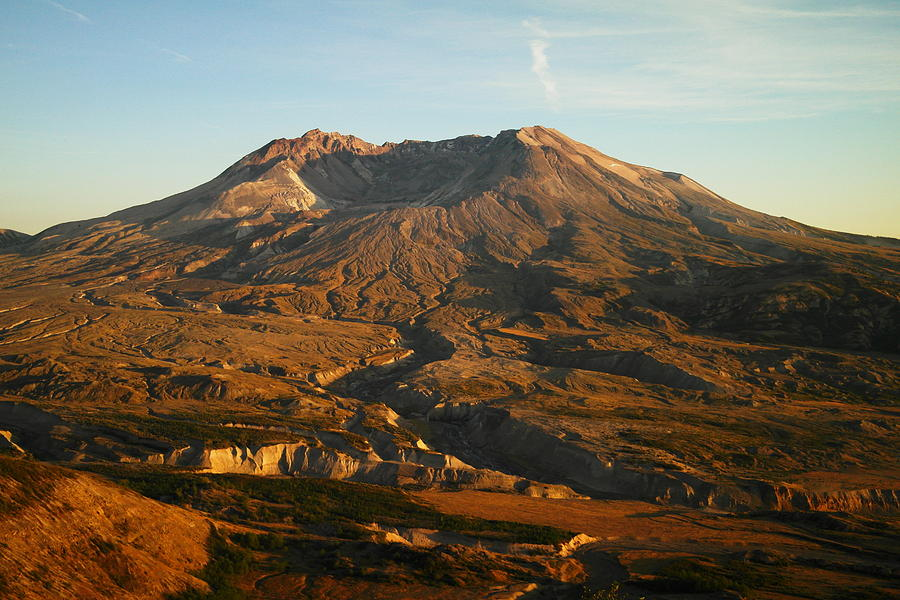 Mt St Helens Photograph - Mt St Helens From Johnsons Observatory by Jeff Swan