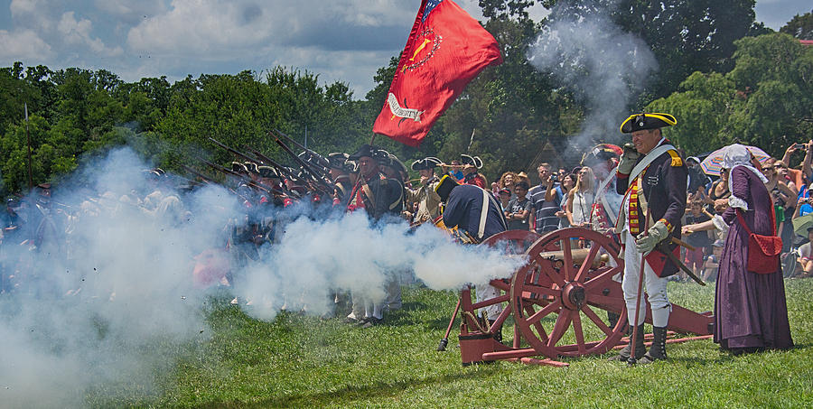Vernon Photograph - Mt Vernon Cannon Fire 4th Of July by Jack Nevitt