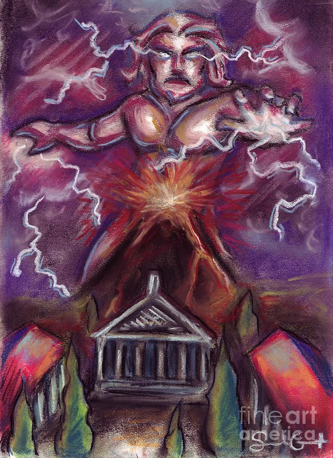 Pompeii Painting - Mt. Vesuvius - Jupiters Fury by Samantha Geernaert