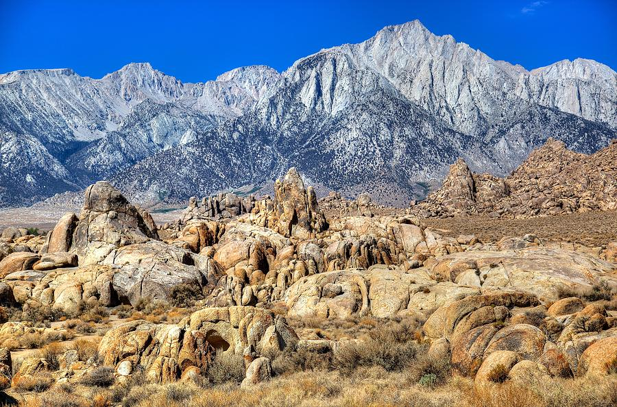 Mt. Whitney over Alabama Hills by Joseph Urbaszewski