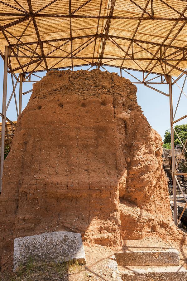 Mud Brick Photograph - Mud-brick Wall Protection by David Parker/science Photo Library