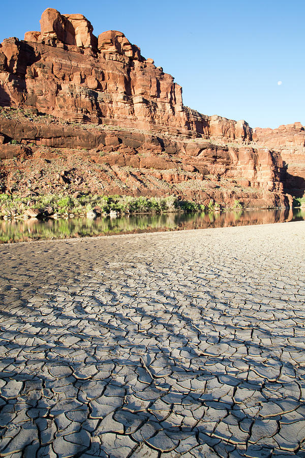 Mud Flats By The River Photograph by Stephanie Hager - Hagerphoto