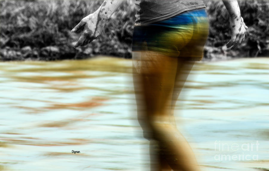 Woman Photograph - Mud River by Steven Digman