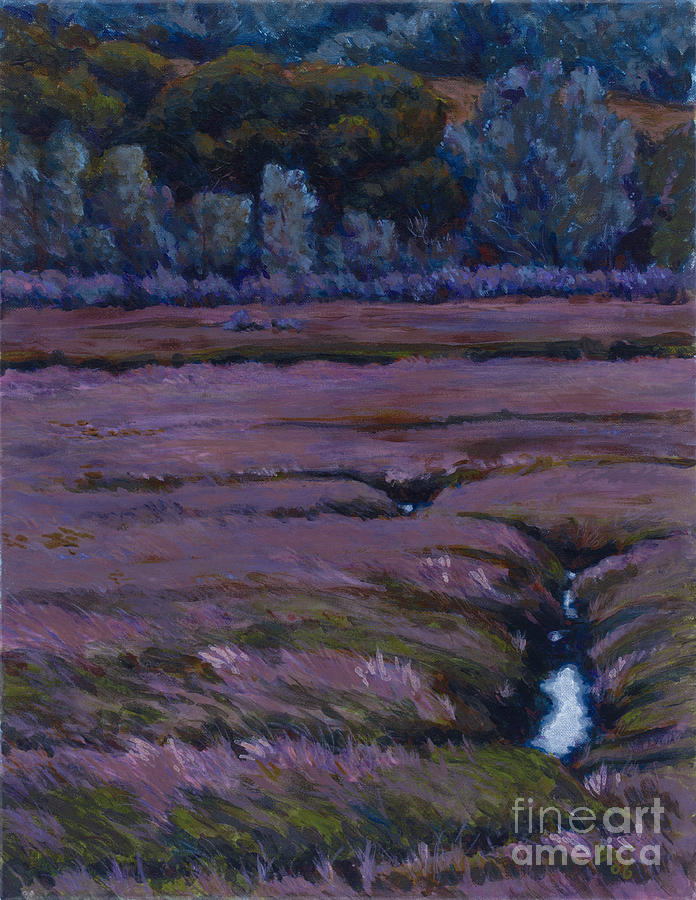 Landscape Painting - Mudflats - Cleavage by Betsee  Talavera