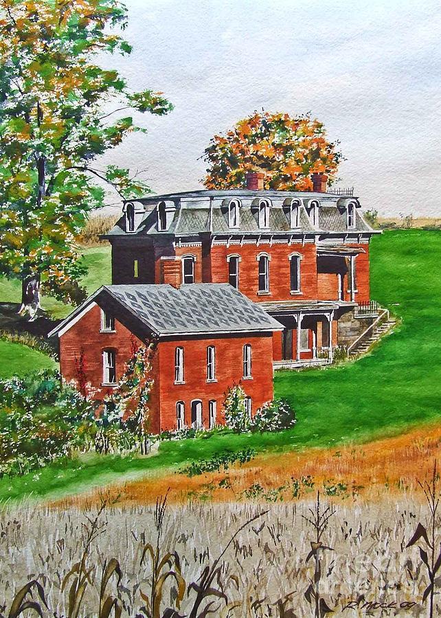 Historic Landmark Painting - Mudhouse Mansion by Rick Mock