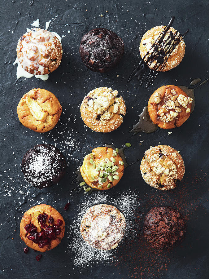 Muffins With Nuts, Fruits And Chocolate Photograph by Eugene Mymrin