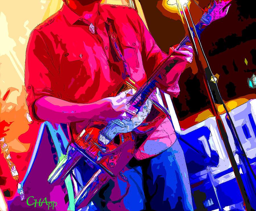 Muffler Photograph - Muffler Guitar by C H Apperson