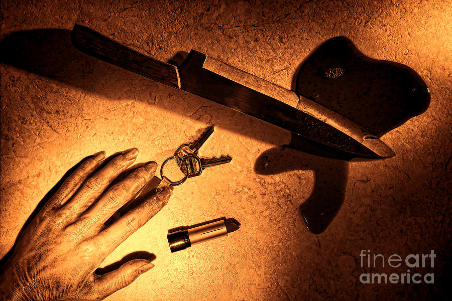 Murder Photograph - Mugging by Olivier Le Queinec