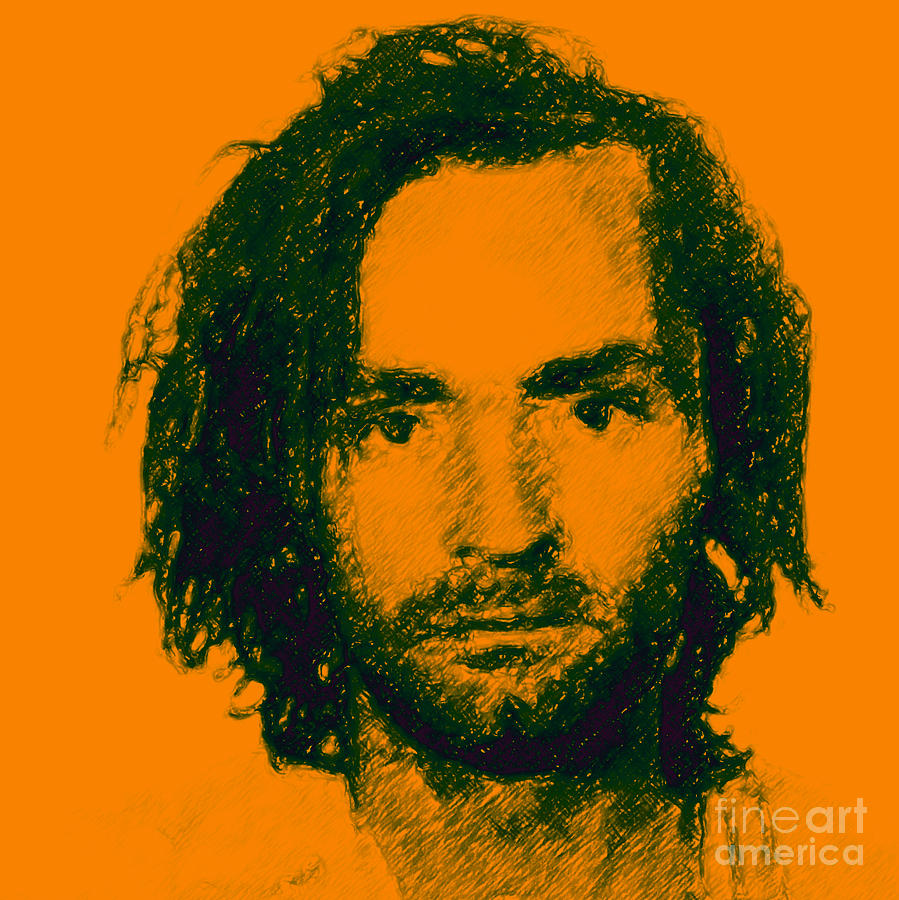 Celebrity Photograph - Mugshot Charles Manson P0 by Wingsdomain Art and Photography