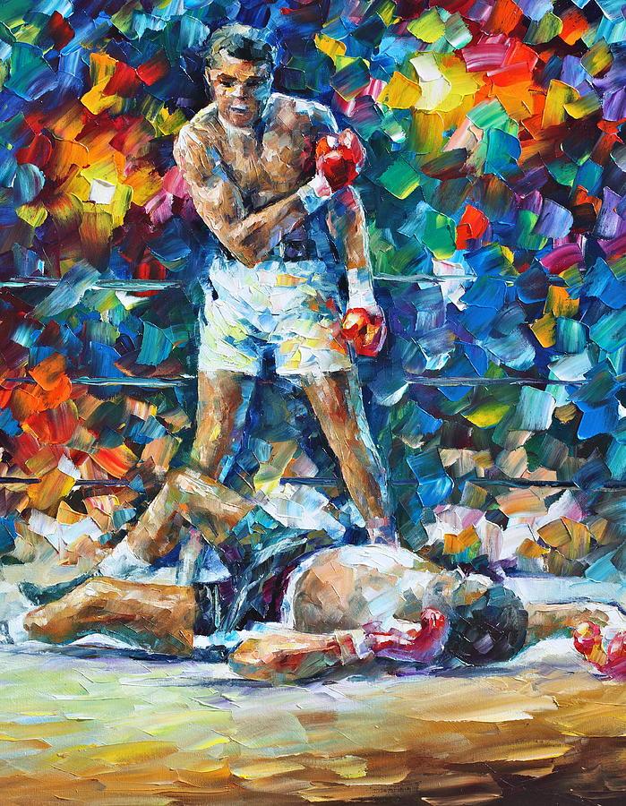 Box Painting - Muhammad Ali by Leonid Afremov