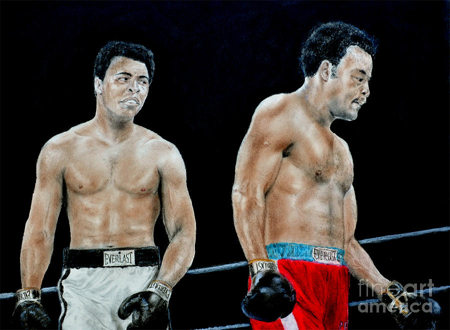 Muhammad Ali Vs George Foreman Drawing by Jim Fitzpatrick