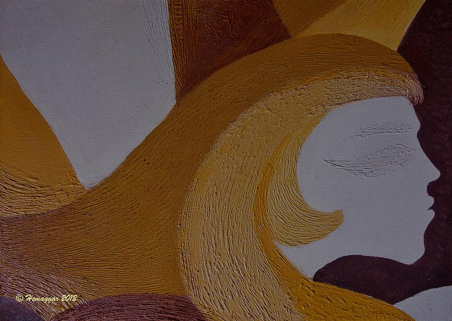 Organic Painting - Mujer De Los Dos by Hemu Aggarwal