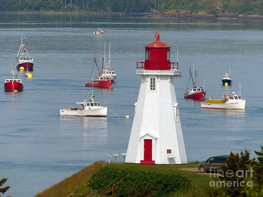 Lighthouse Photograph - Mulholland Point Lighthouse  At Roosevelt Campobello International Park by Christine Stack