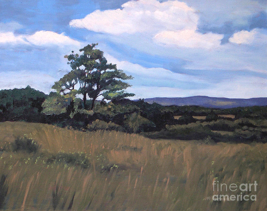 Summer Landscapes Painting - Mulmar Hills No 2 by Joan McGivney