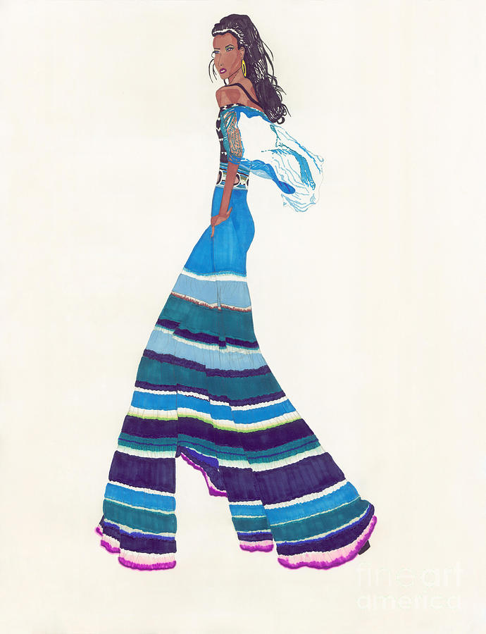 Multi Colored Pants Drawing - Multi-colored Pants by Asia Johnson
