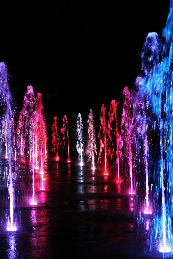 Multi Colored Water Fountain Photograph By Alina Skye