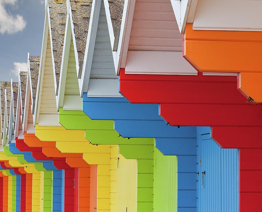Multi Coloured Beach Huts Photograph by Kim Haddon Photography