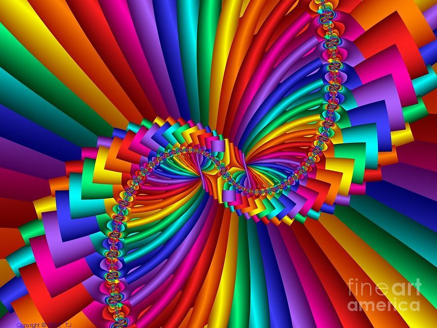 Abstract Digital Art - Multichrome 5 by TJ Art