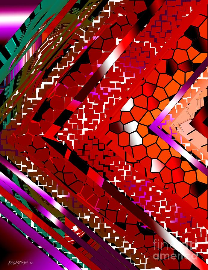 Red Digital Art - Multicolored Abstract Art by Mario Perez