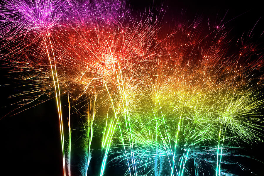 Multicolored Fireworks Photograph by Kamisoka