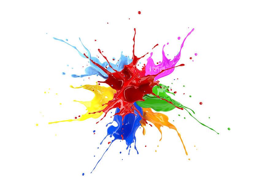 Multicolour paint explosion, illustration Drawing by Leonello Calvetti/science Photo Library