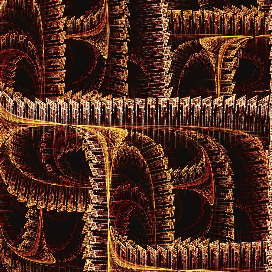 Interior Digital Art - Multidimensional Passages by Anastasiya Malakhova
