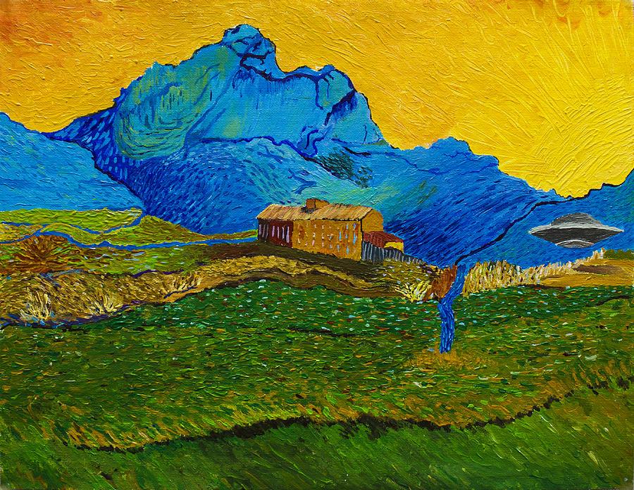 Van Gogh Painting - Multidimensional Portals In Van Goghs Hyperspace by Maxwell Hanson
