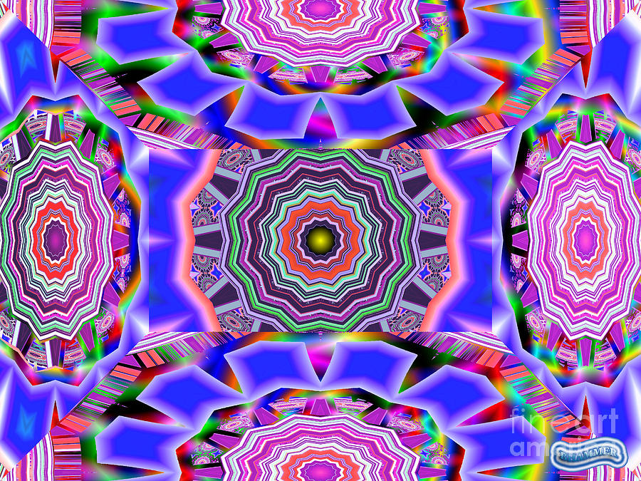 Shapes Digital Art - Multifaceted by Bobby Hammerstone