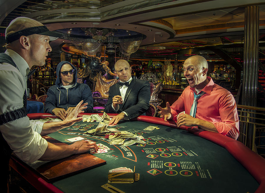 Multiple Exposure Of Gamblers Playing Poker In Casino Photograph by Kirk Marsh