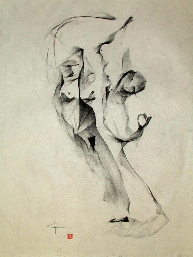 Sensuality Drawing - Multiple Image Gesture by John Arthur Ligda