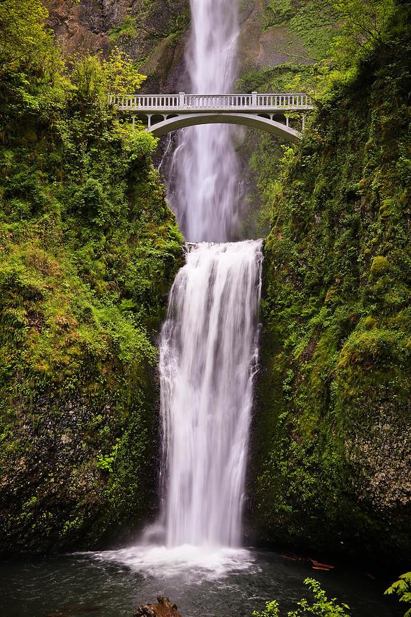 Multnomah Falls And Bridge Photograph